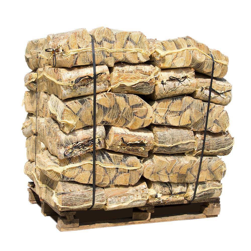Ovntørret pejsebrænde bøg i 30L netsække 42 sække 840kg