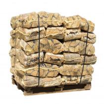 Ovntørret pejsebrænde birk 30L netsække 42 sække 840kg